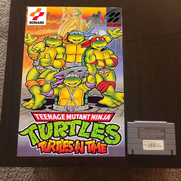 TMNT Turtles in Time Poster (18x12 in)