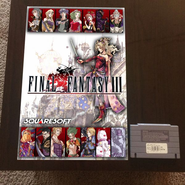 Final Fantasy III Poster (18x12 in)
