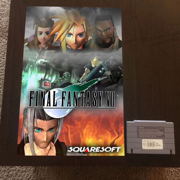 Final Fantasy VII Poster (18x12 in)