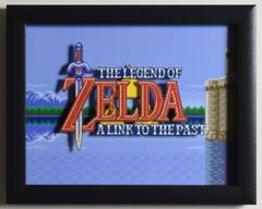 "Legend of Zelda: A Link to the Past (SNES) - ""Title Screen"" 3D Video Game Shadow Box with Glass Frame 10 x 12.5 inches"