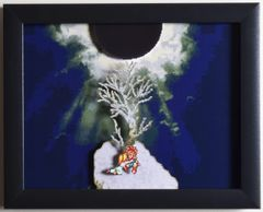 "Chrono Trigger (SNES) - ""Death Peak"" 3D Video Game Shadow Box with Glass Frame 10 x 12.5 inches"