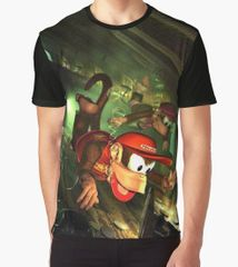 "Donkey Kong Country 2 ""Under Water"" Graphic T-Shirt"