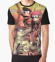 "Donkey Kong Country 2 ""Pirate Ship"" Graphic T-Shirt"