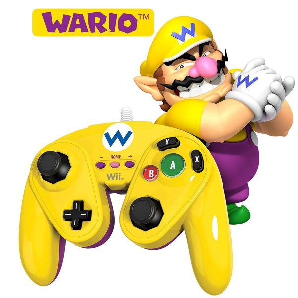 WARIO - Nintendo Wii / Wii U Official Wired Fight Pad Classic Controller BRAND NEW IN BOX