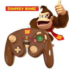 DONKEY KONG - Nintendo Wii / Wii U Official Wired Fight Pad Classic Controller BRAND NEW IN BOX
