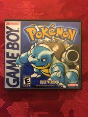 Pokemon Blue GameBoy Game Case