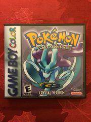 Pokemon Crystal GBC Game Case