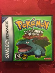 Pokemon Leaf Green GBA Game Case