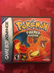 Pokemon Fire Red GBA Game Case