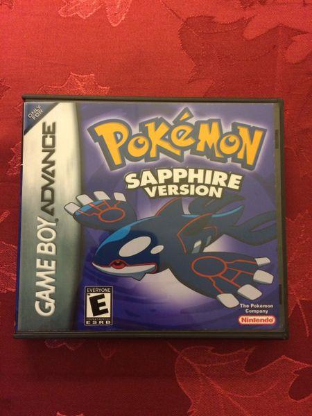 Pokemon Sapphire GBA Game Case