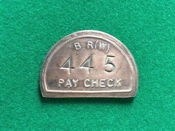 026 - Old Railway Token, B.R.W.