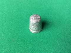 194 - Silver Advertising Thimble, JUDGE. LEICESTER. SPA :SOLD:
