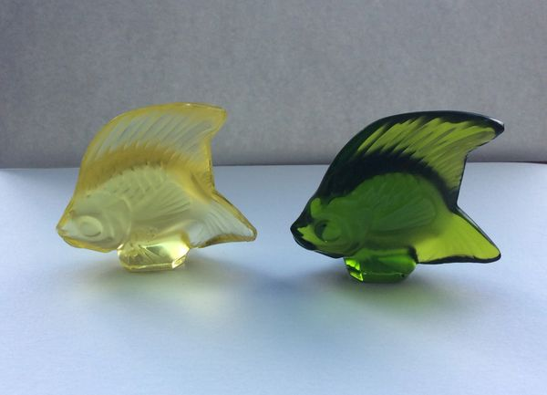 196 - Two Lalique Glass Fish