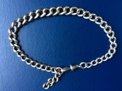010 - Silver Watch Chain :SOLD:
