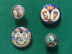 185 - Four Royal Commemorative Badges/Buttons