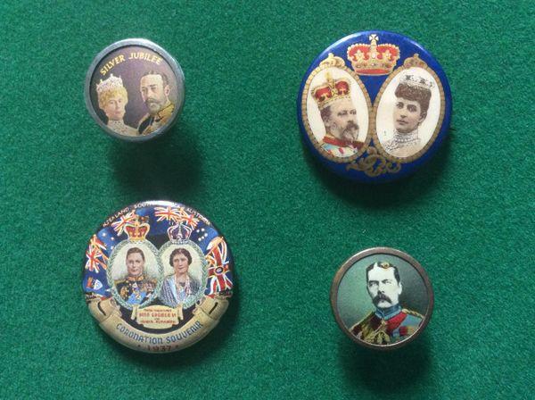 185 - Four Royal Commemorative Badges/Buttons