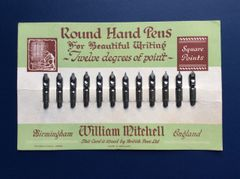 022 - Full Advertising Card Of Mitchell's Nibs :SOLD: