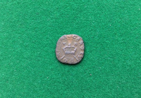 197 - King Charles 1, 1625 - 1649, Rose Farthing With Brass Insert