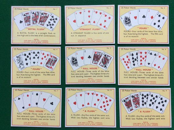 017 - Set Of Cigarette Cards, Poker