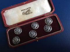 169 - Boxed Set Of Silver Buttons, Birmingham 1904 :SOLD:
