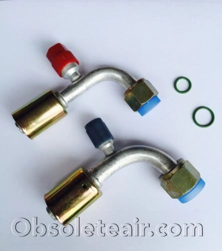 Female O-Ring 90 Deg A//c Hose Fitting Beadlock #8
