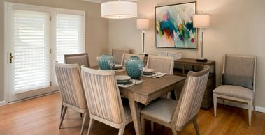 Dining room furniture by Dawn Driskill, Design Gallery for client in Kenmure Country Club Flat Rock
