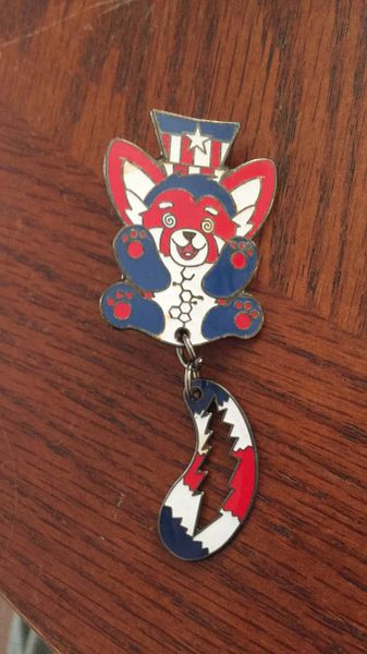 Trippy Fox Hatpin