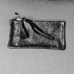 Beluga Caviar Black leather clutch