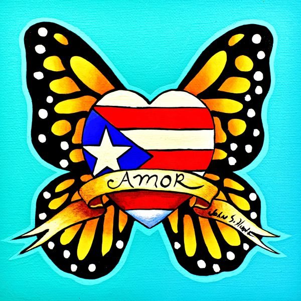 Puerto Rico flag butterfly