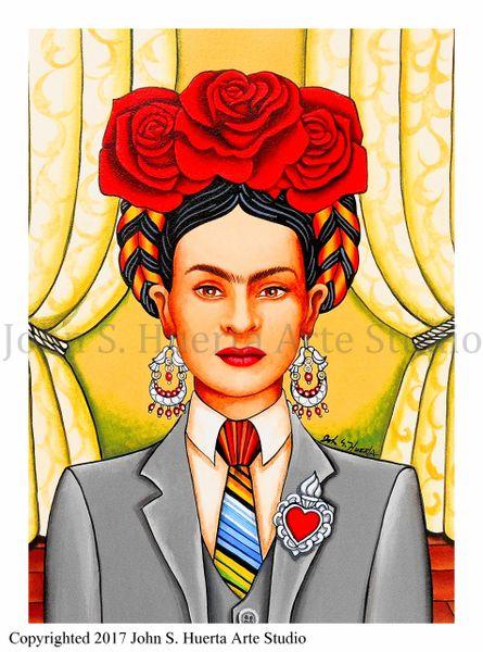Frida in Suit