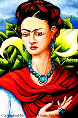 Frida in Garden