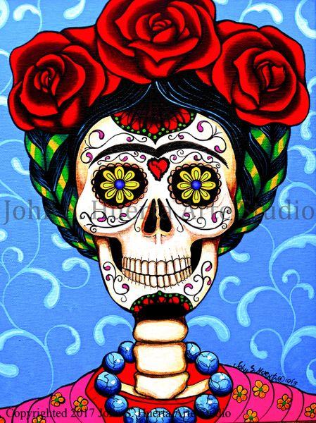 Frida in Blue