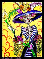 La Catrina 100% cotton unisex black