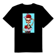 Candy 100% cotton unisex black tshirt