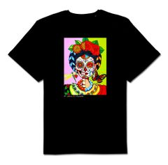 Esther 100% cotton unisex black tshirt