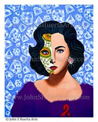 """Elizabeth Taylor"" 22x28 original acrylic on canvas"