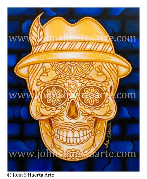 Catrin de Oro 8x10 acyrlic on canvas