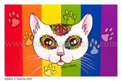 White sugarskull cat