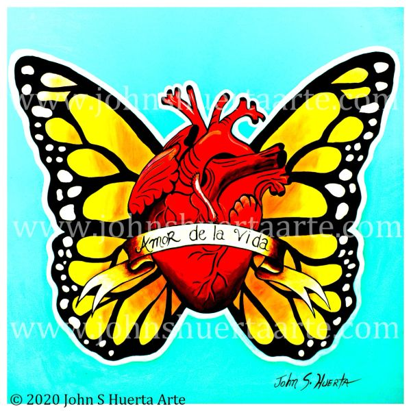 Amor de la Vida acrylic on canvas