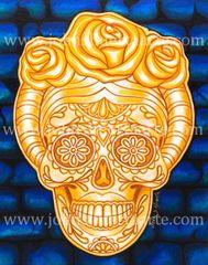 Catrina de Oro acrylic on canvas 8x10