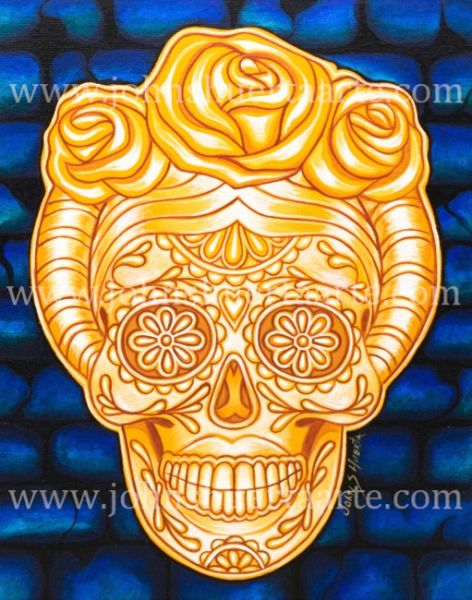 Catrina de Oro acrylic on canvas 8x10