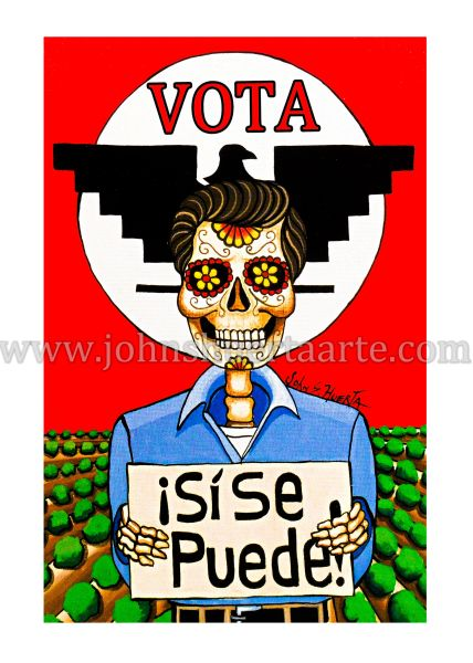 Si Se Puede Vota art greeting card