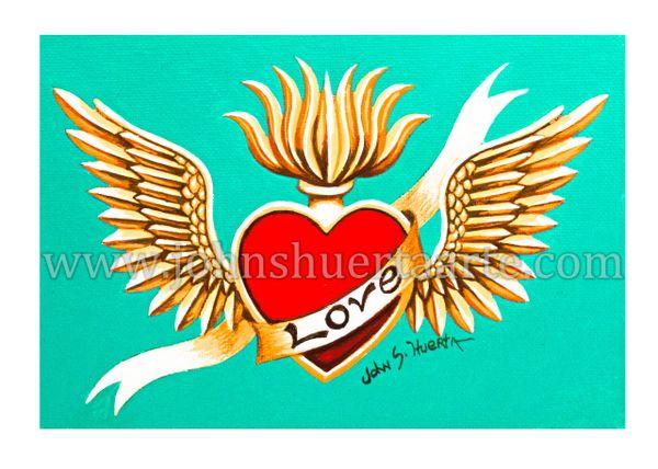 Sacred Heart II art greeting card