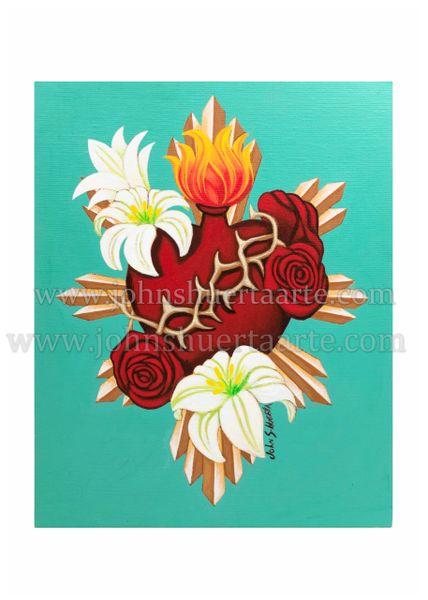 Sacred Heart III art greeting card
