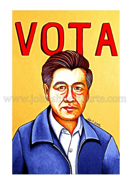 Vota Cesar Chavez art greeting card