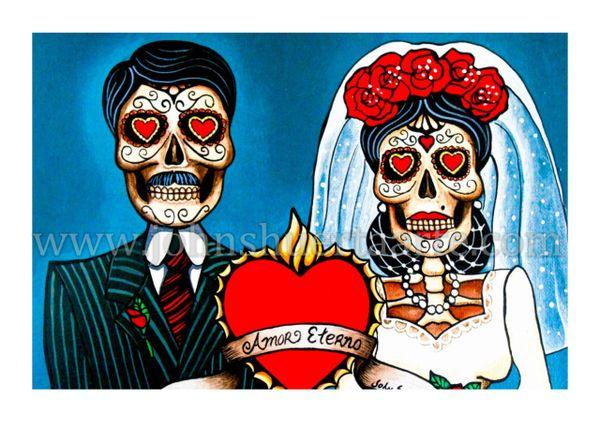Amor Eterno art greeting card