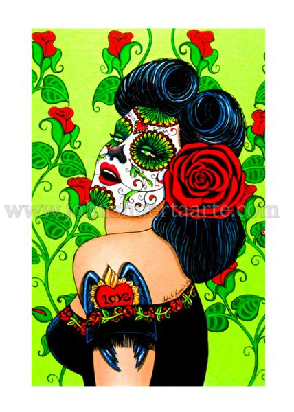 Valentina art greeting card