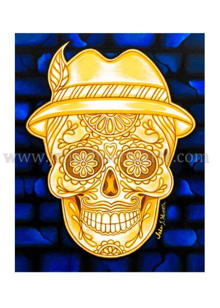 Catrin de Oro art greeting card