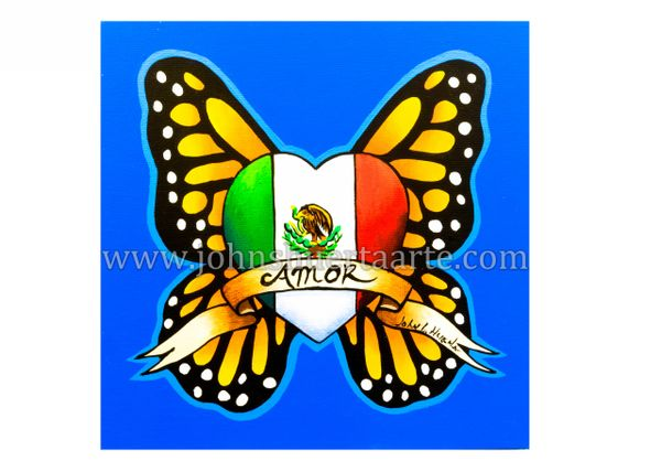 Amor Mexico art greeting card