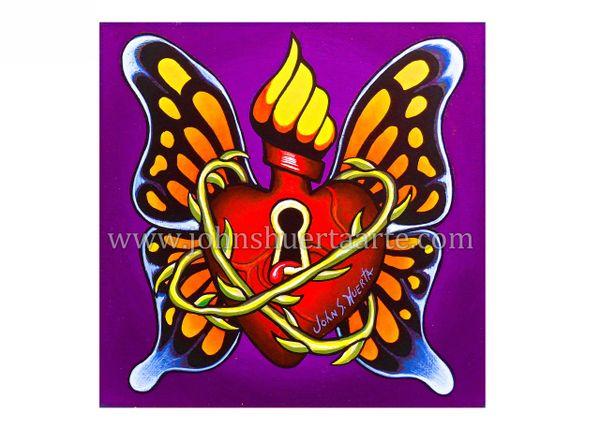 Secret Heart art greeting card